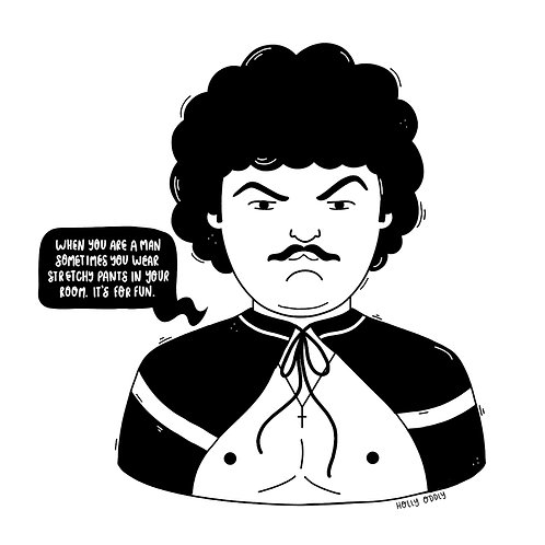 Nacho Libre, 4x4 Print (Print Only. No Framed Included.)