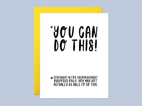 Disclaimer Encouragement Card Handlettered Greeting Card