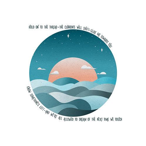Ocean hard copy 8x10 Print