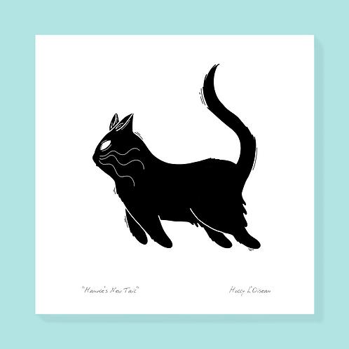 Black Cat Print, 4x4