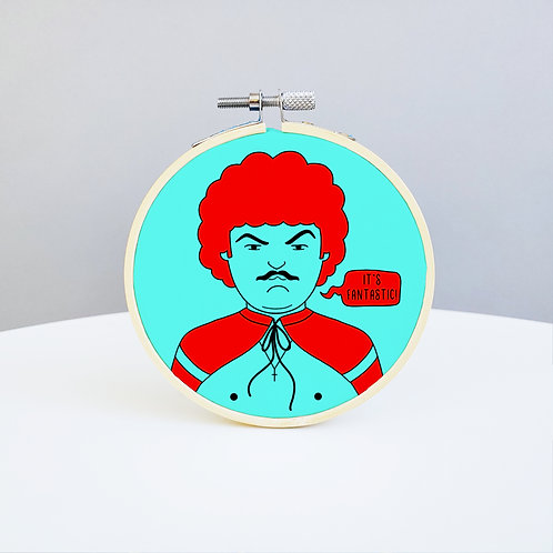 Nacho Libre Embroidery Kit