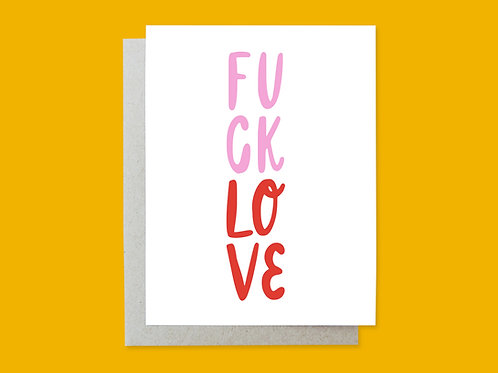 Fuck Love Handlettered Greeting Card