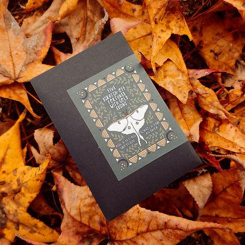 5 Pack of Scratch-Off Fortunes, Luna Moth