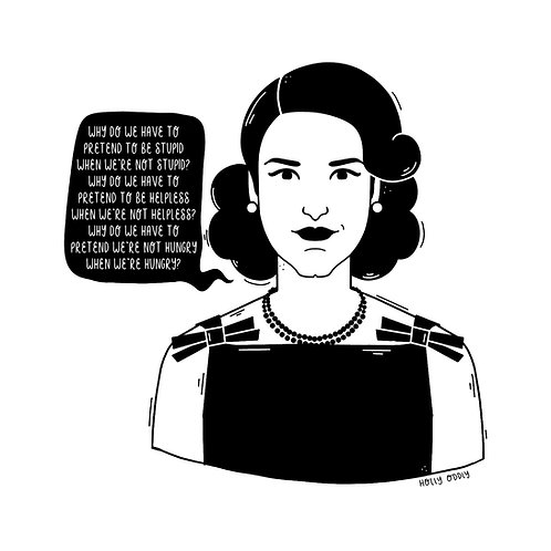 The Marvelous Mrs. Maisel, Midge, 4x4 Print (Print Only. No Framed Included.)