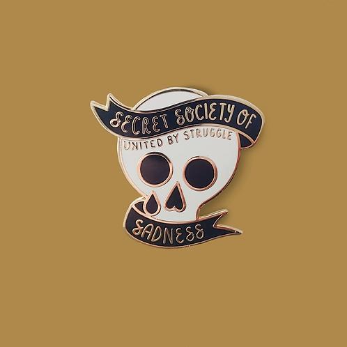Secret Society of Sadnes Enamel Pin