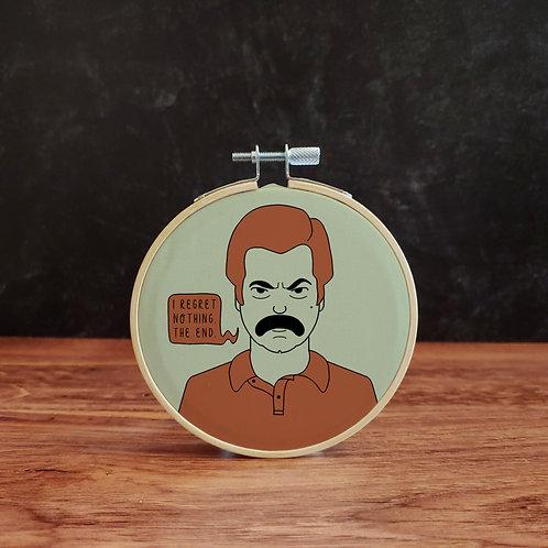 Ron Swanson Embroidery Kit