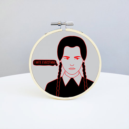 Wednesday Addams Embroidery Kit