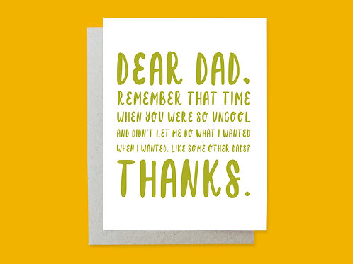 Father's Day Uncool Handlettered Greeting Card