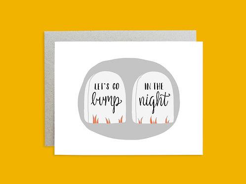Halloween Handlettered Greeting Card