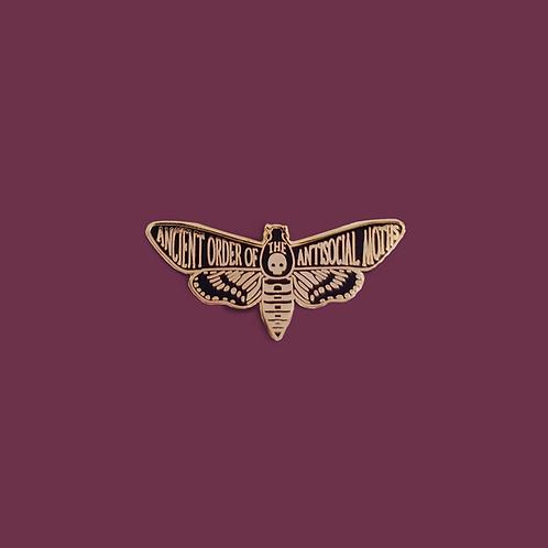 Antisocial Moth Enamel Pin