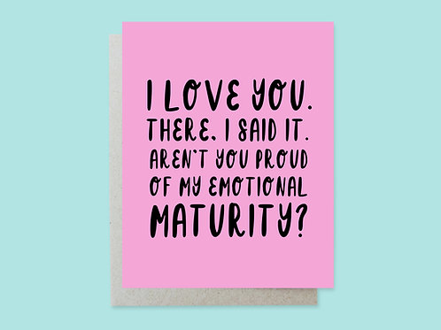 Emotional Maturity Handlettered Greeting Card