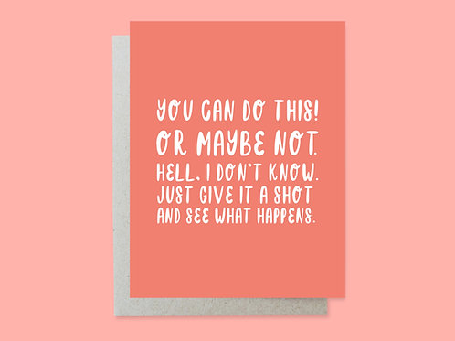 You Can Do This Handlettered Greeting Card