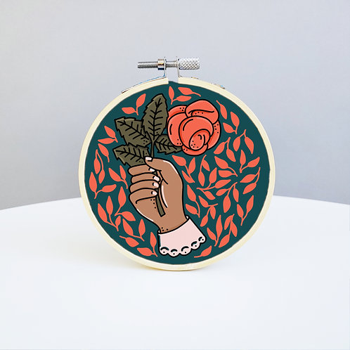 Hand & Rose Embroidery Kit