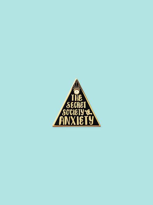 The Secret Society of Anxiety Hard Enamel Pin