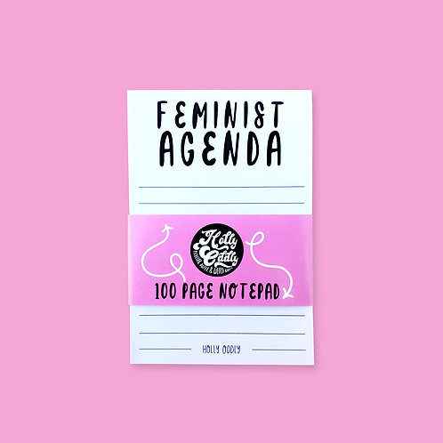 Feminist Agenda 100 Page Office Notepad