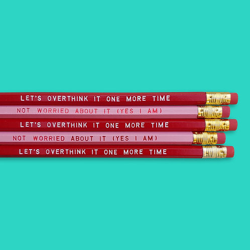 Overthink This Pencil Duo Set