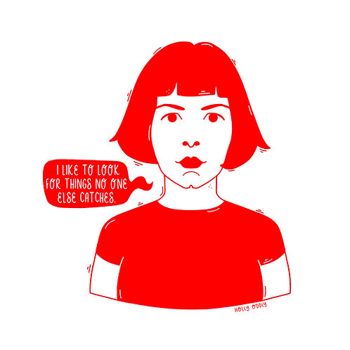 Amelie, 4x4 Print (Print Only. No Framed Included)