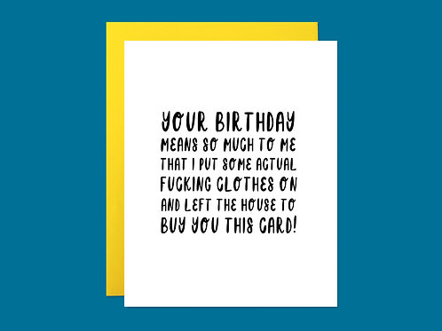 Left the House Handlettered Greeting Card