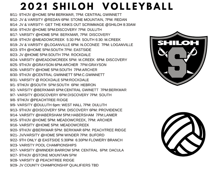 2021 Volleyball Shiloh HS Generals Schedule.png
