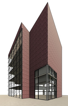 Curtain Wall System Design 3D Modeling