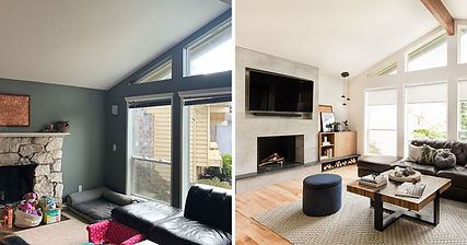 Before and After - Living Room