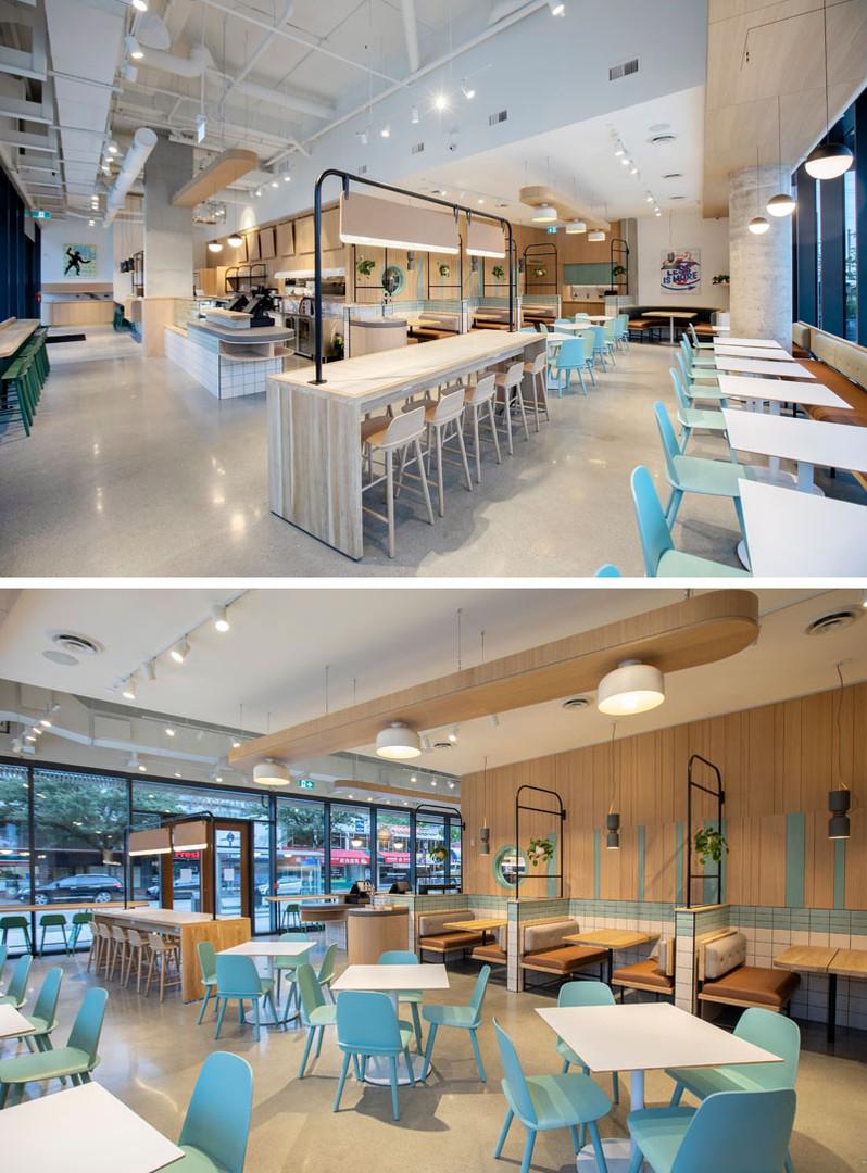 Modern Kafe Restoran Oturma Alanı