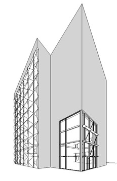 Curtain Wall System Design Black and White