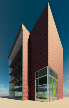Curtain Wall System Design Rendering
