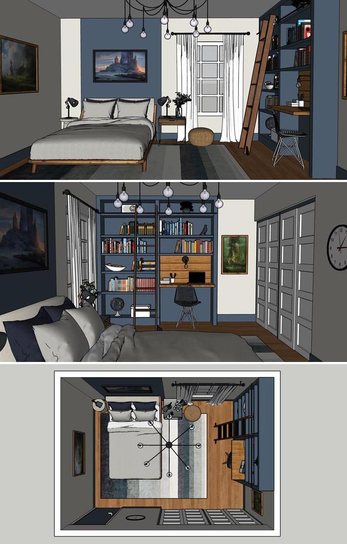 Genç Odası Tasarım ve Render
