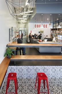 İç mimari restoran ve kahve dükkanı tezgah tasarımı