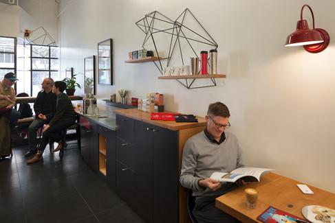 kahve dükkanı mobilya tasarımı öncesi sonrası