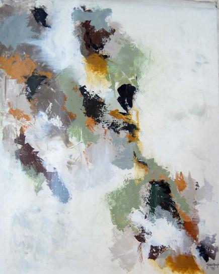 Untitled (brown, ochre, green)