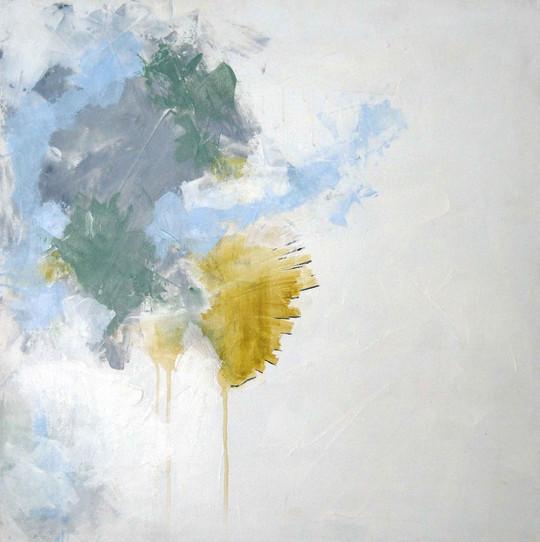 Untitled (grey, blue, ochre)