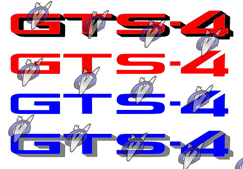 """Nissan Skyline """"GTS-4"""" decal : Special Colors"""