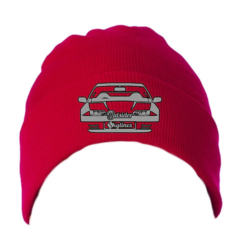Outsider_Skylines R32 Logo: Knit Hat