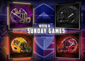Week 8 Sunday Game Previews
