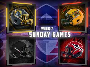 Week 7 AAF Sunday Game Previews