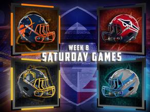 Week 8 Saturday Game Previews