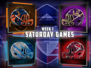 Week 7 AAF Saturday Game Previews