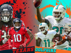 Thursday Night Football Preview: Miami Dolphins (4-3) @ Houston Texans (4-3)
