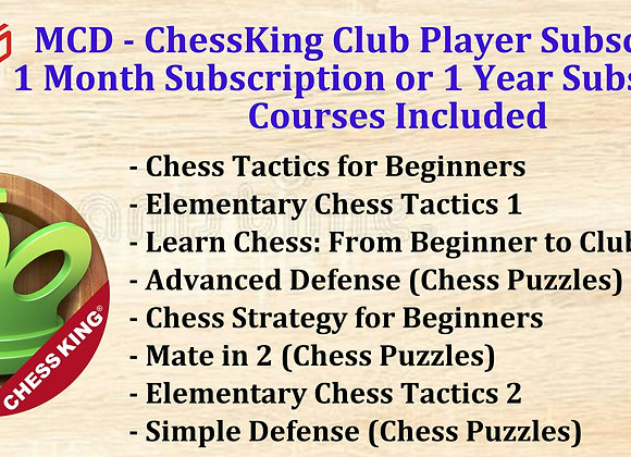 MCD - ChessKing Club Player 1 Month Subscription