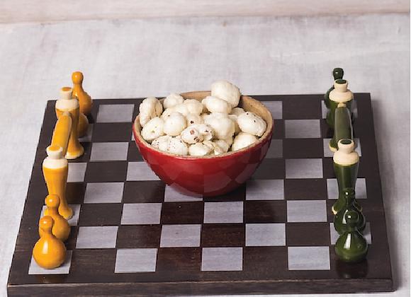 MCD - Handmade Chess Tray -Yellow and Green