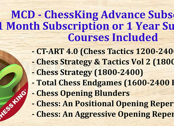 MCD - ChessKing Advanced 1 Month Subscription