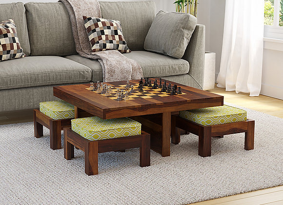MCD - Coffee Table with Four Cushions Stools