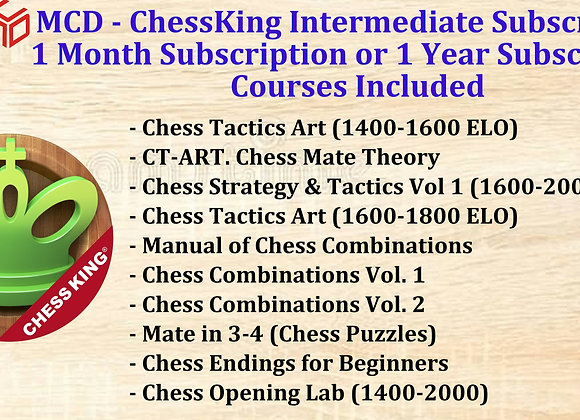 MCD - ChessKing Intermediate 1 Year Subscription