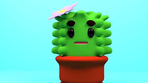 3D Cactus Design-Maya