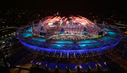 I'm at the Olympic Games' Ceremony