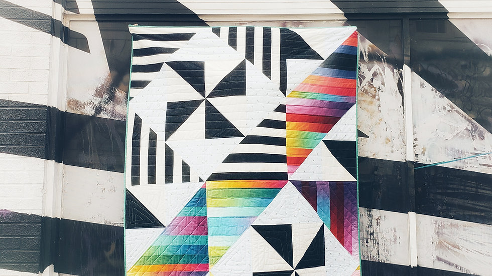 Mod Jelly Swirl, quilt pattern