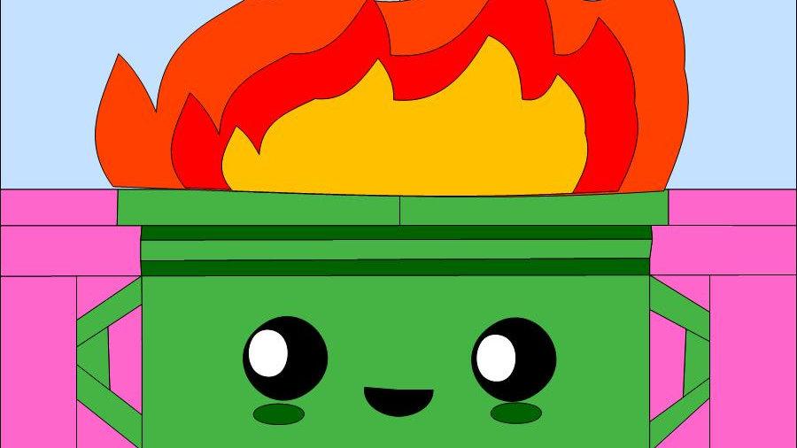 Cute Dumpster Fire pattern