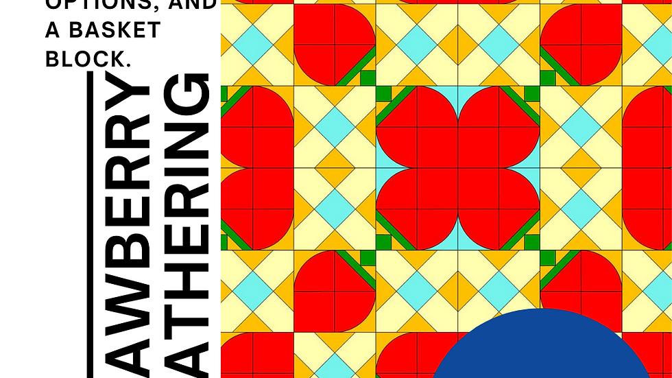 Strawberry Gathering  quilt pattern